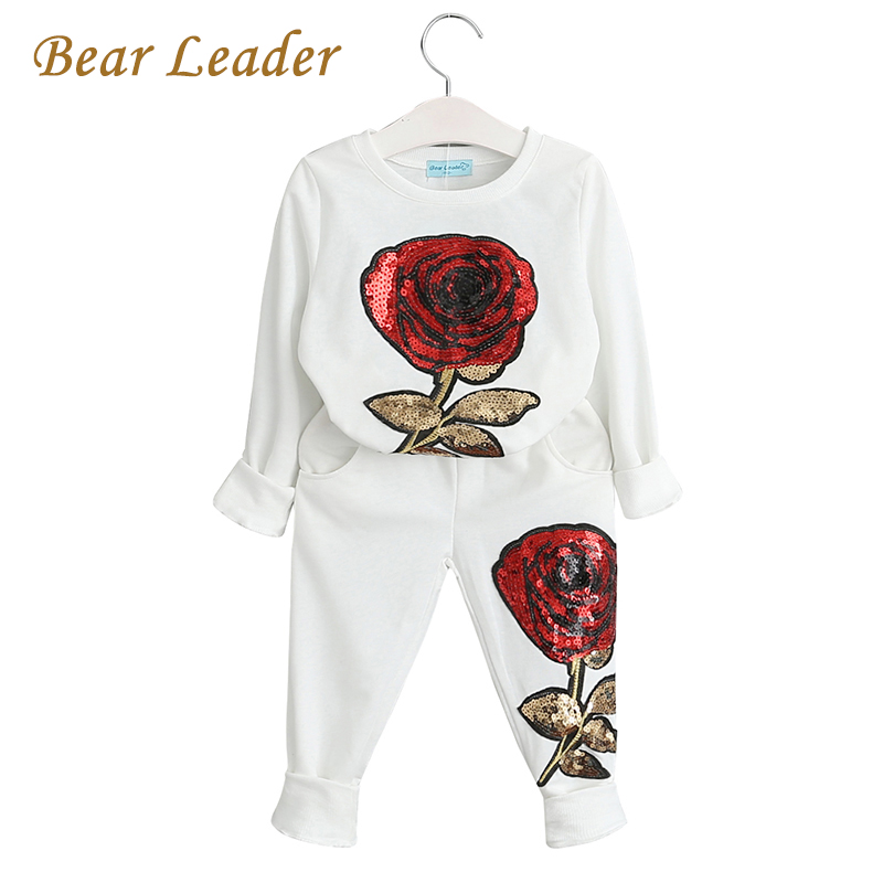 Bear Leader Kids Clothing Sets 2016 New Winter Girls Boys Clothes Graffiti Printing Sweatshirts+Casual Pants 2Pcs for Girls Suit