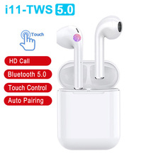 i11 TWS Stereo Handsfree Auto Pair Bluetooth Earphone Wireless Earphones In ear Earbuds Touch Bass Headset PK i12 i10 i30