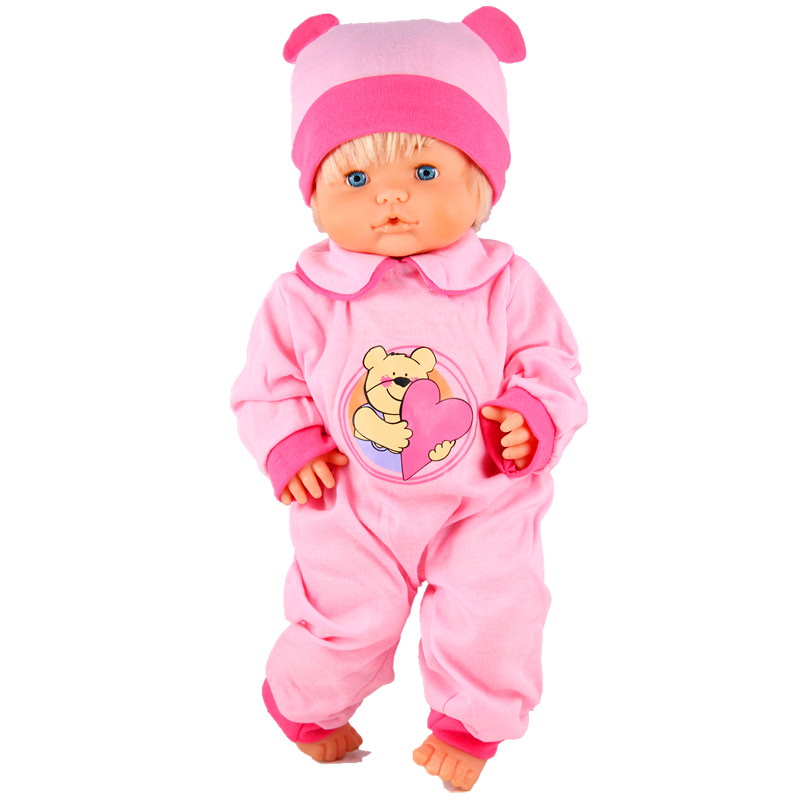 Clothes For Dolls Fit 41 Cm Nenuco Doll Nenuco Y Su Hermanita Ropa Nenuco Heart Bear Pink Jumpsuits With Hat For 16inch Nenuco