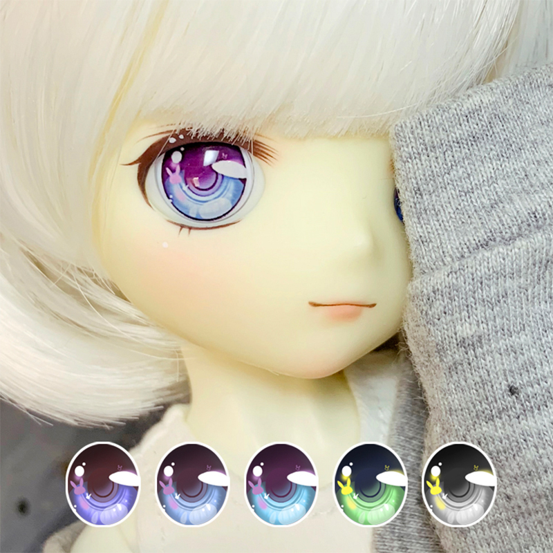 BJD Eyes 10-24mm Doll Eyes Full Size Cartoon Eyes With Small Rabbit For 1/8 1/6 1/4 1/3 BJD SD DD Doll Accessories Pressure Eyes