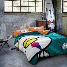 Cartoon duvet cover set-queen king twin full size bedding set,100% cotton sanding winter/autumn duvet cover bed sheet pillowcase
