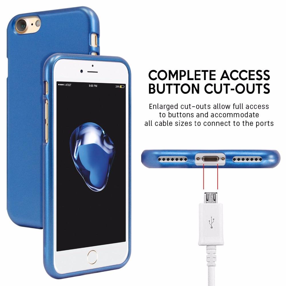 Mercury Goospery I Jelly Tpu Bumper Case Slim Metallic Cover For Iphone 8 Plus Fancy Diary Yellow Hotpink 1 S L1600