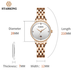 Image 3 - STARKING Luxury Fashion Women Watches Stainless Steel Relojes Mujer Dress Lady Watch Quarts Wrist Watches 2019 NEW