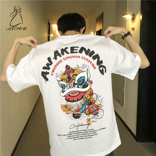 2019 New Short-sleeve T-shirt Mens Round Neck Loose Summer Compassionate Trend Half-sleeve Fashion Street Five-point Sleeve
