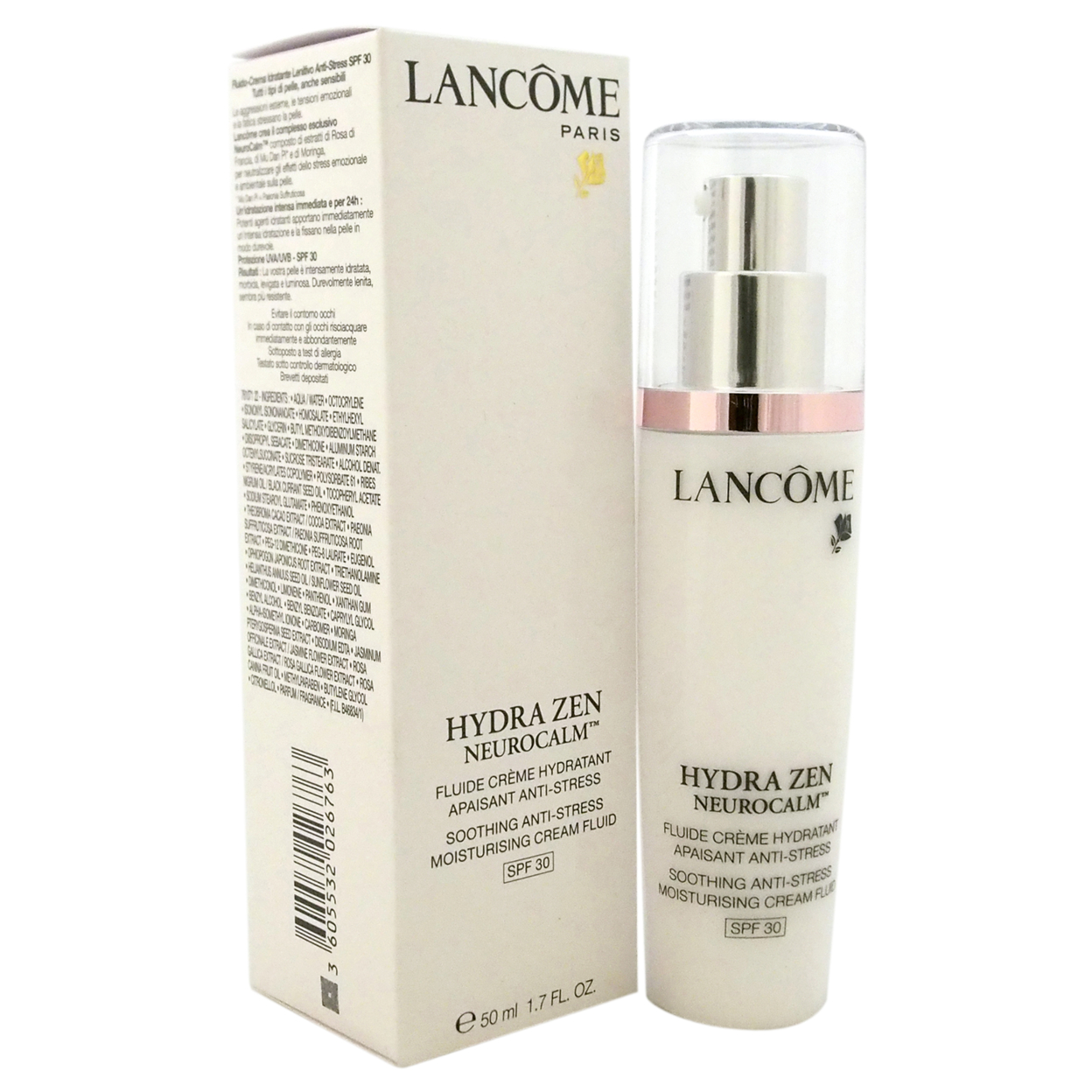 Hydra Zen Neurocalm Soothing Anti Stress Moisturising Cream Fluid Lancme Gel 50ml Spf 30 By Lancome For Unisex