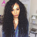 250% Высокой Плотности Бразильский Вьющиеся Glueless Полный Шнурок Человеческих Волос Парики для Черных Женщин 7А Вьющиеся Волны Кружева Перед Человеческих Волос, Парики