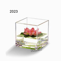 JB2023 BAKEST Clear Acrylic Crystal Flower Vase Home Ware For Decoration