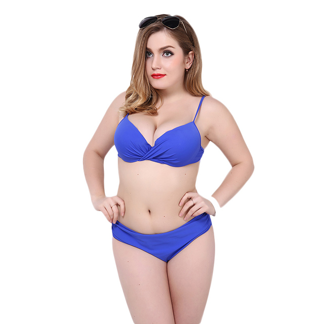 2550b8f0538 Large size swimsuit women plus size swimwear female bathing suit summer 2016  new tankini set bandeau bikini set push up