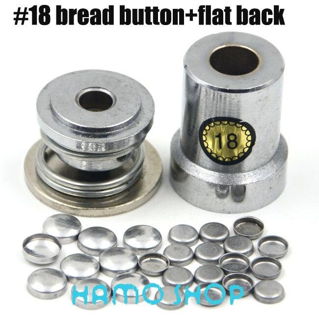 100 set/lote #18 Frete Grátis Rodada De Alumínio Tecido Coberto Botão Pano + Uma Ferramenta de Metal Acessórios Jóias DIY