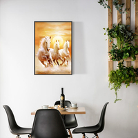 Induction lamp painting Wall Art Picture Canvas Oil Painting Animal Print For Living Room Home Decor