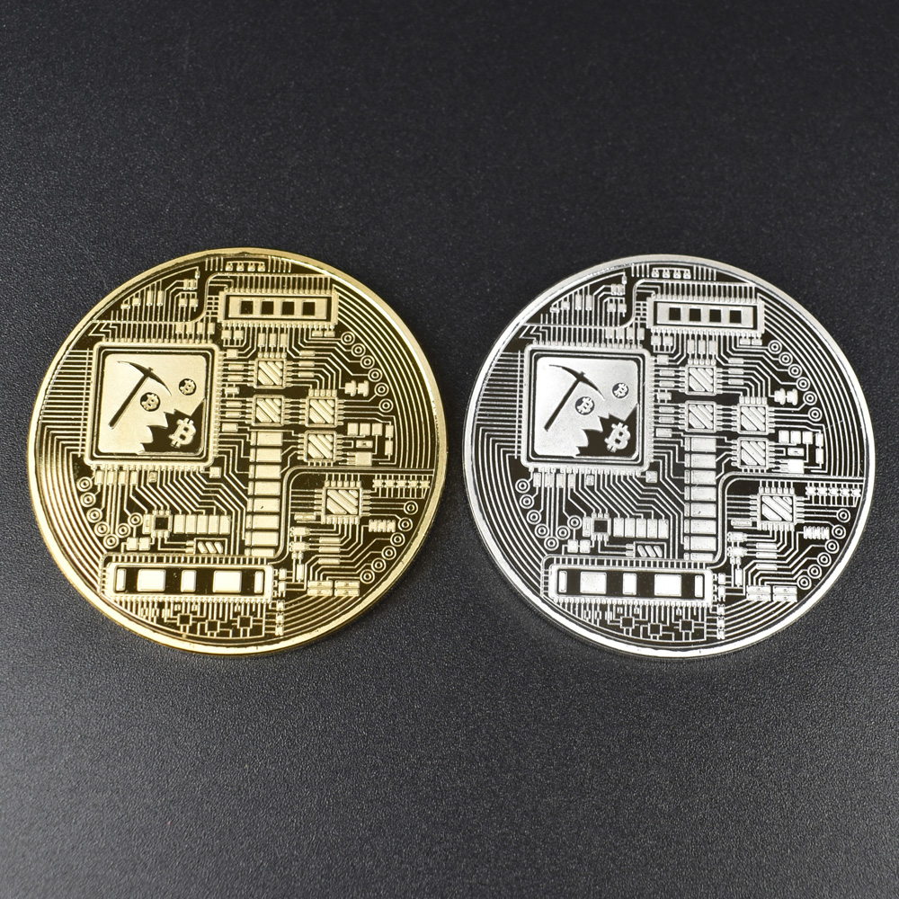 1pcs Hot sale Cheap Gold BItcoin Coin with Plastic shell Bit Coin BTC Cryptocurrency Physical metal coin for Colllection-4