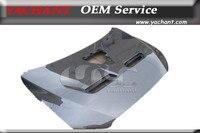 Car Styling Carbon Fiber Front Hood Bonnet Fit For 2008 2012 Lancer Evolution EVO X EVO10 OEM Style Hood w/o Scoop & Side Vents