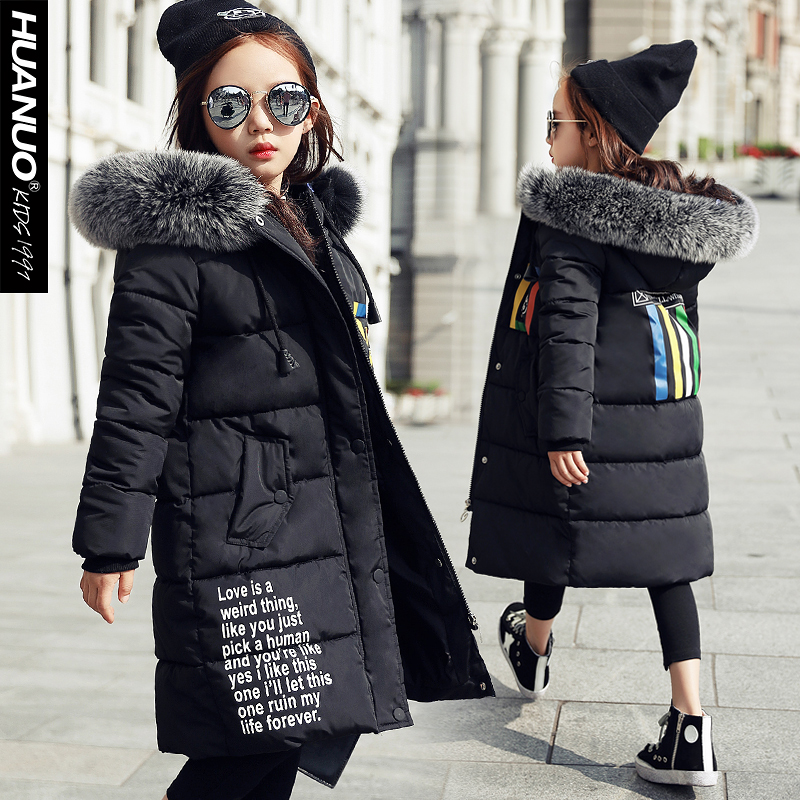 The child new winter long girl in cotton padded jacket coat jacket цена