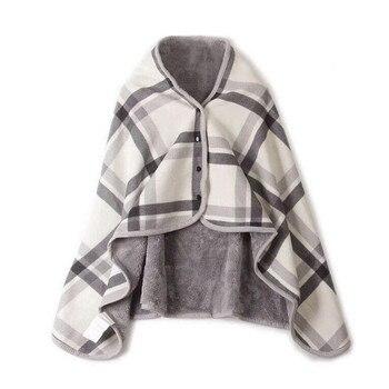 Manta para dama multifunción para dormir para adultos, bufanda de tela escocesa, manta suave, cobertor de Coraline, bufanda de invierno cálida para siesta silenciosa
