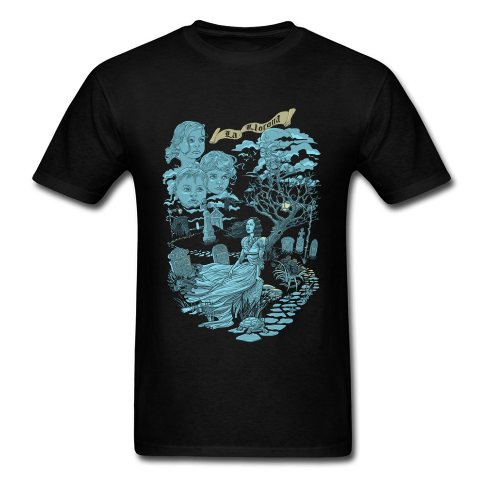 Popular Western T Shirts Men Hispanic Legend La Llorona