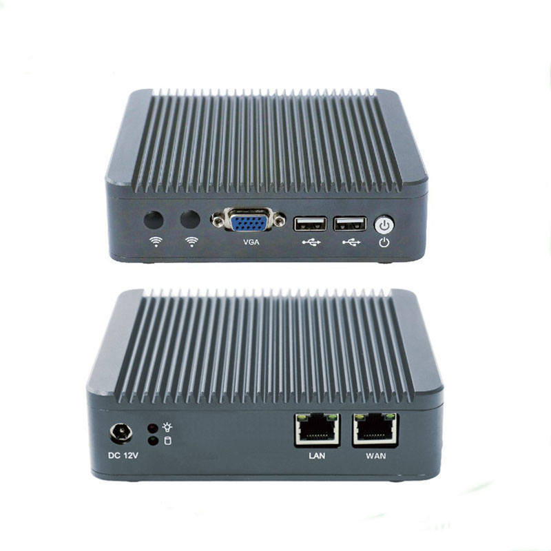 2017 Newest mini pc J1800 dual core cheap fanless pfsense types firewall with 2 intel Gbe