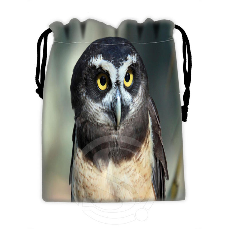 High Quality Custom Owl #5 Drawstring Bags For Mobile Phone Tablet PC Packaging Gift Bags18X22cm SQ00715-@H0312