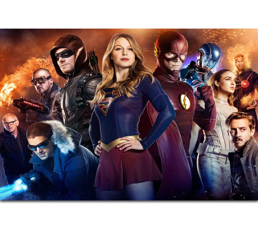 Supergirl Season 4 TV Show Canvas Silk Poster Print 12x18 24x36 inch Home Decor