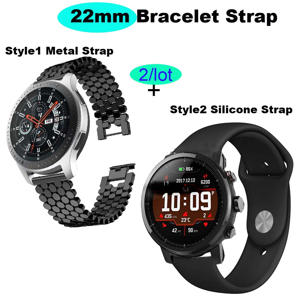 22mm Bracelet Band For Xiaomi Huami Amazfit Pace Stratos 2 Watch Strap For Xiaomi Amazfit GTR 47mm Wrist Pulsera For Samsung