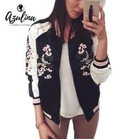 Adalisa Reversible Coat Pink Embroidery Bomber Jacket Women Autumn Winter Women Flower Baseball Short Jackets Female