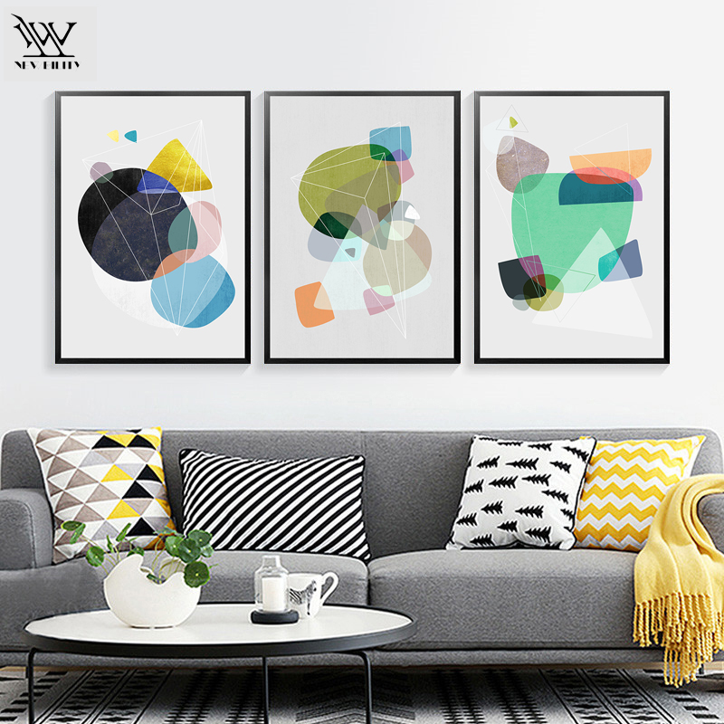 Abstract Cartoon Art Print Poster Living Room Wall Pictures Canvas