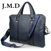 J.M.D 2017 New Arrival 100% Leather Briefcases Men's Cow Leather Messenger Shoulder Bag Handbags 7325