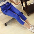 New 2017 Spring Summer Women's Candy Color Pants Casual Cropped Trousers /Capris Harem Pant Women Overall Fashion Students Pants