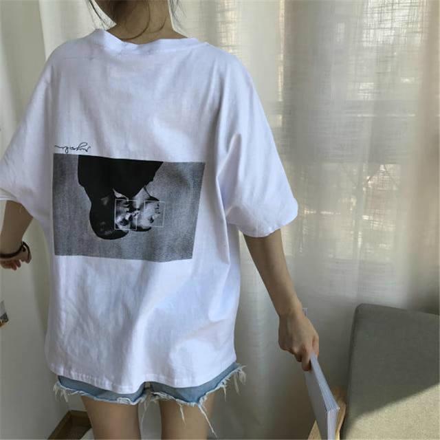 Korobov Harajuku Summer T Shirts Vintage Character Printed Tops 2018 Short Sleeve O-neck Top Tee Fashion Causal White Shirt 274