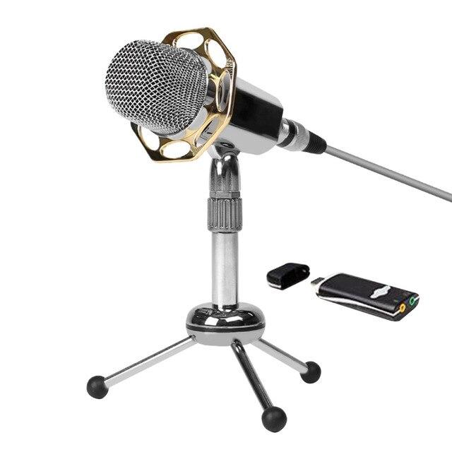 2016 Новый Профессиональный Y10/Y10B Супер Чувствительный Конденсаторный Микрофон 3.5 мм С Шумоподавлением Компьютер Микрофон с Штатив Стенд