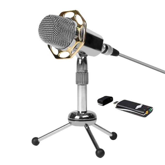 2016 New  Professional Y10/Y10B Super Sensitive Condenser Microphone 3.5mm Noise Canceling Computer Microphone with Tripod Stand