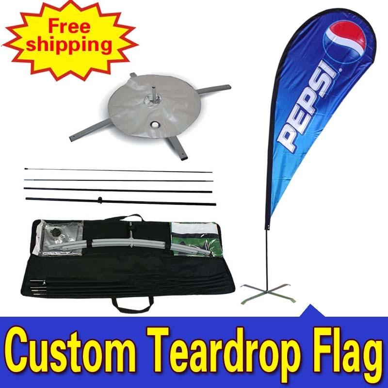 90cm * 275cm Custom Garden Flags Enkelzijdig afdrukken Teardrop - Huisdecoratie
