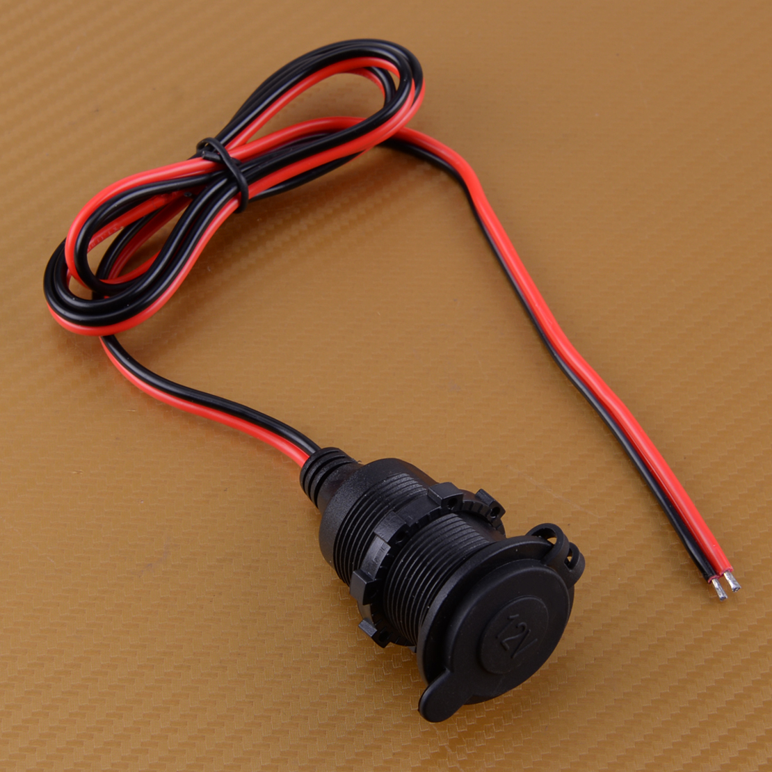12V DC Female Car Cigarette Lighter Socket Plug Connector Adapter Cable