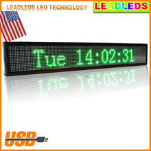 indoor Programmable Scrolling Message led diaplay Board for Business and Store -Green Message led sign