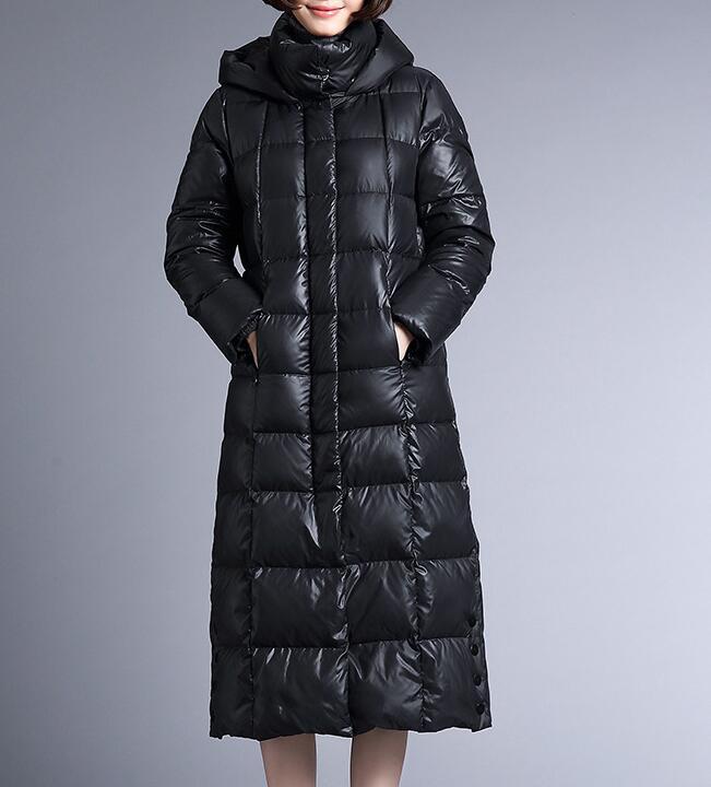 Hooded Long Women   Down     Coat   Thick Warm Winter 90% Duck   Down     Coat   Plus Size Jacket Hooded Women   Coat