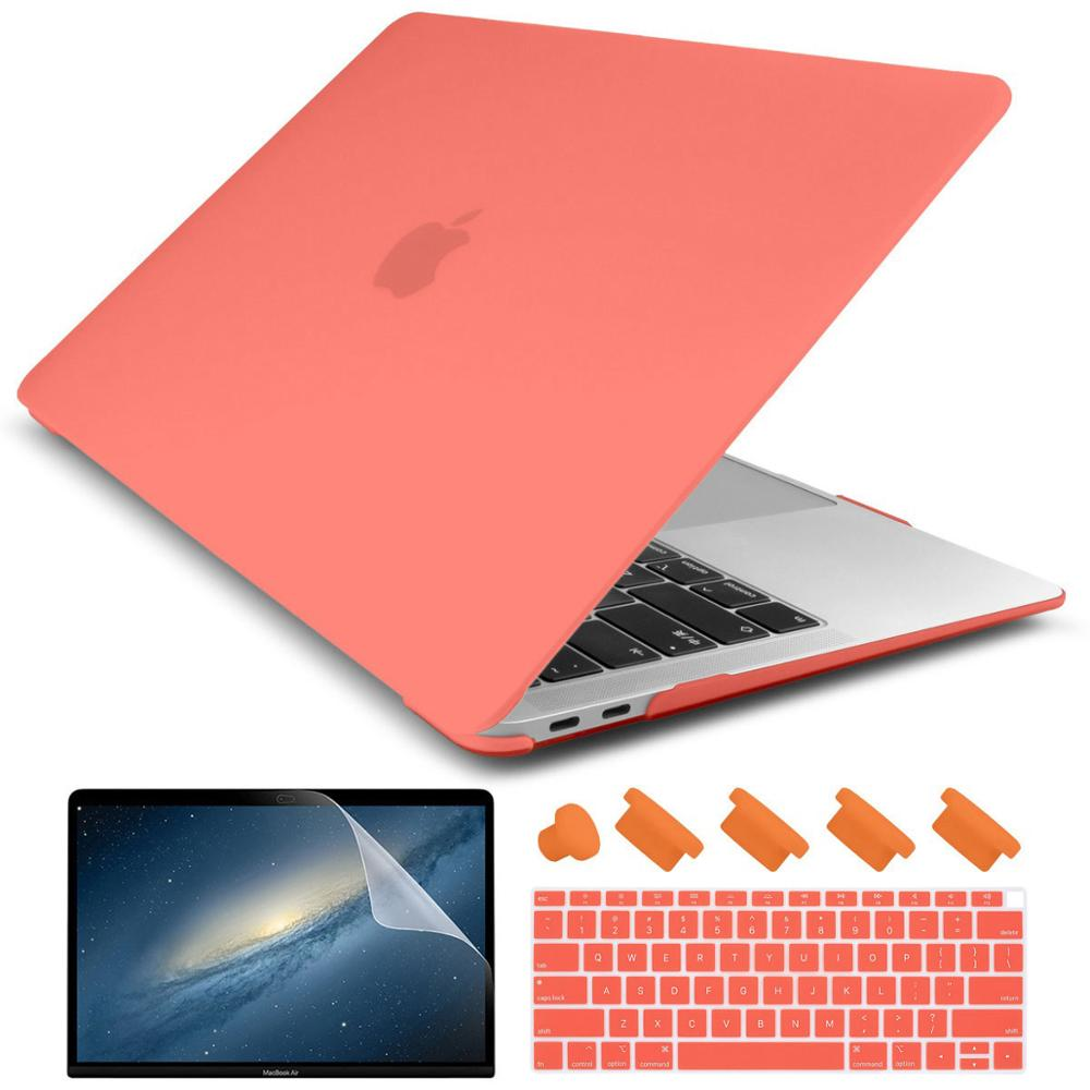 2019 Macbook Pro 13 inch A2159 A1706 Black Frosted Matte Protective Hard Case