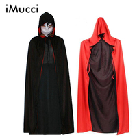 Death Cloak Cosplay Ghost Clothes Black And Red Multi Cape Hooded Cloaks Halloween Costume For Kids