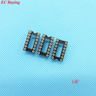 34pcs Round Hole 14 Pin 2.54MM DIP IC Socket Adaptor Solder Type IC Connector (If you need other quantity, please contact us )