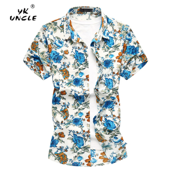 YK UNCLE Brand Summer Men Shirt 2018 New Streetwear Shirts Mens Casual Short Sleeve Business Dress Shirts Social Men's Clothing