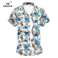 YK UNCLE Brand Summer Men Shirt 2018 New Streetwear Shirts Mens Casual Short Sleeve Business Dress Shirts Social Men's Clothing