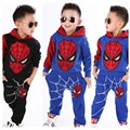 RT-183 2017 New Boys Sets Spider-Man Set Children Sportswear Suit Coat + Pants 2 Pc. Set Children Clothing Set