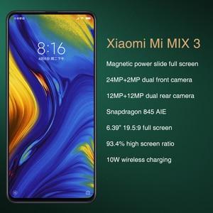 """Image 2 - Globalny rom Xiao mi mi mi x 3 6GB 128GB Snapdragon 845 6.39 """"AMOLED pełny ekran 19.5:9 24MP 2 powrót 2 przedni aparat telefon komórkowy"""