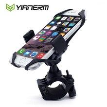 Yianerm MTB Bike Motorcycle Phone Holder Secure Brand Clip Grip Bicycle Handlebar Phone Mount Bracket For iPhone6s,GPS