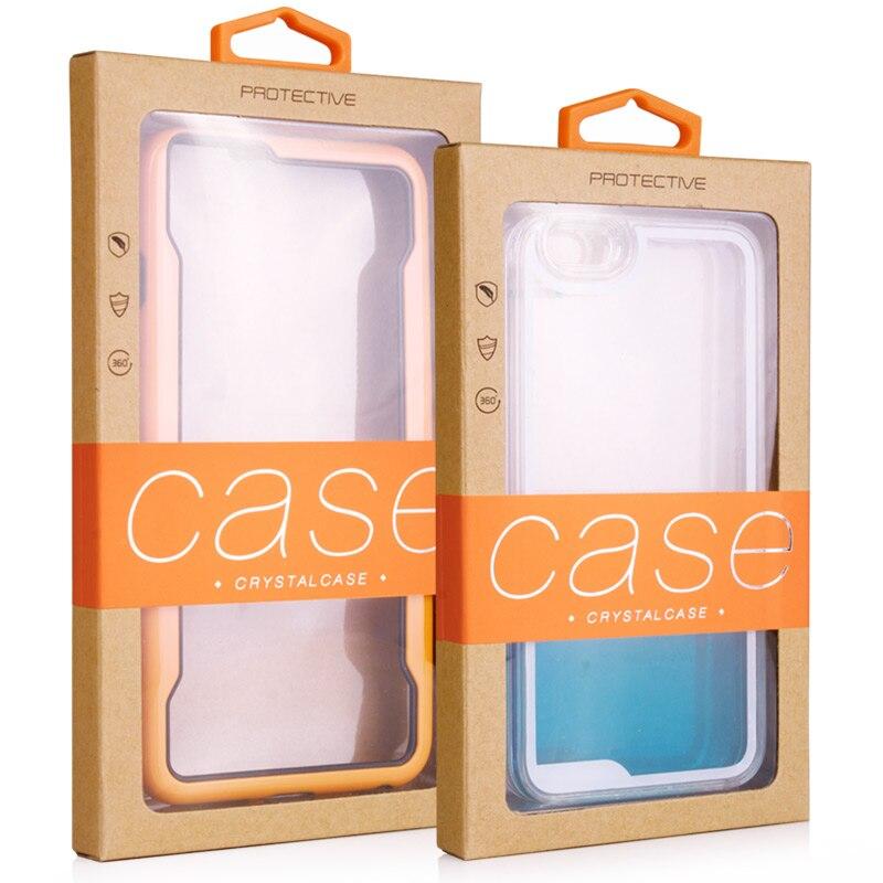 imágenes para 50 unids/lote dhl envío ventana de pvc paquete de la caja al por menor de envases de papel con inserto caja de embalaje al por menor para el iphone 5s/6 6 plus kj-467