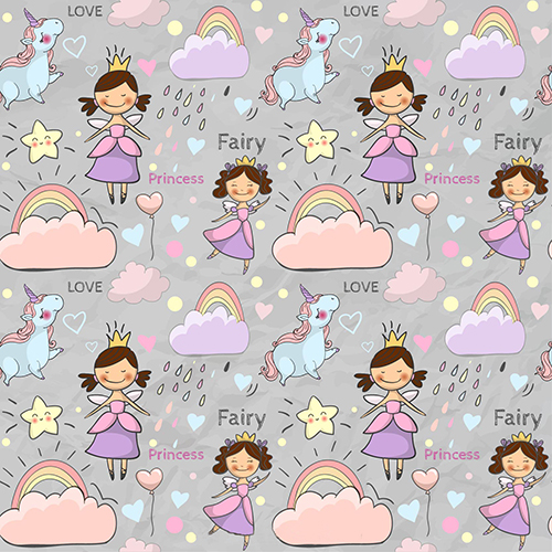 Cloud Rainbow Unicorn 1st Fairy Princess Backgrounds Vinyl cloth Computer printed wall party backdrop