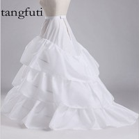 White Black Wedding Petticoats 3 Layers Cheap Women Petticoat Underskirt Jupon Crinoline Vestido Longo Sottogonna HL002