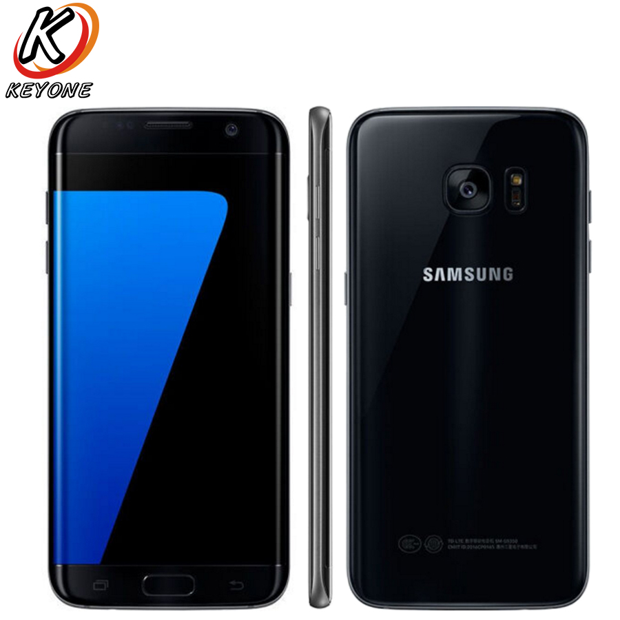 "HK Vesion Samsung Galaxy S7 Edge G9350 4G Mobile Phone 5.5"" Quad Core 4GB RAM 64GB ROM 12MP 2560 x1440px Android 6.0 Smart Phone"