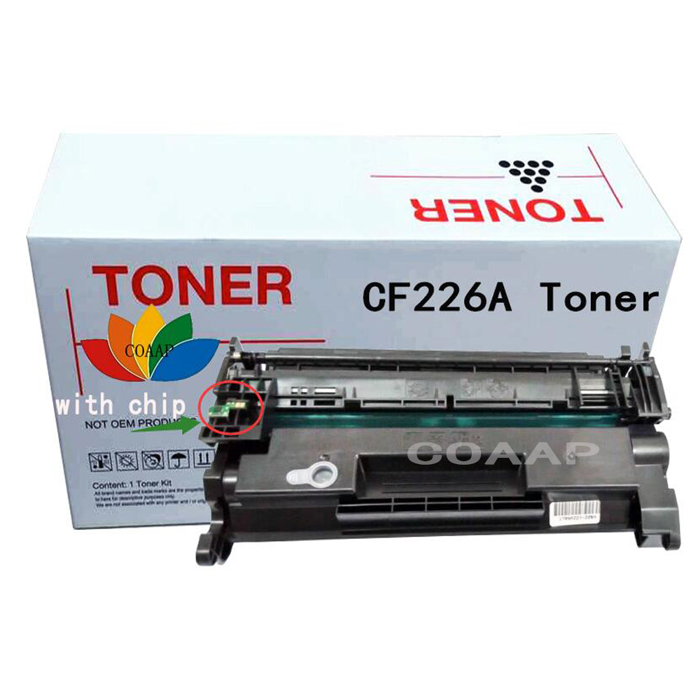 CF226A 26A 226A black toner cartridge compatible For HP LaserJet Pro M402n/M402d/M402dn/M402dw,MFP M426dw/M426fdn/M426f printer compatibel cf226x 226x 26x 9000 page yield for hp toner cartridge laserjet pro m402dn m402dw m402n pro mfp m426fdn m426fdw