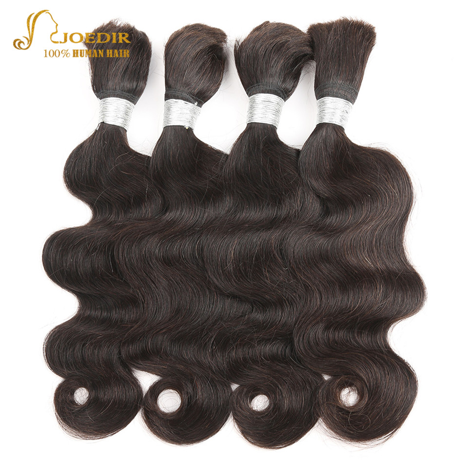 Joedir Remy Brazilian Body Wave Hair Bundles Human Bulk Hair For Braiding Human Braiding Hair Bulk 30 Inch Hair Weave Bundles