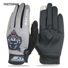 YHETERNAL 2018 Wolf head Cycling Gloves Long Finger with Shockproof Sport Gloves Bicycle Bike Gloves for Men and Women Mittens