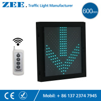 Remote Wireless Controlled 600x600mm Red Cross Green LED Traffic Light Lane Traffic Light Controller LED Traffic
